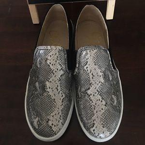 Ellie slip on sneakers, black/snake skin print
